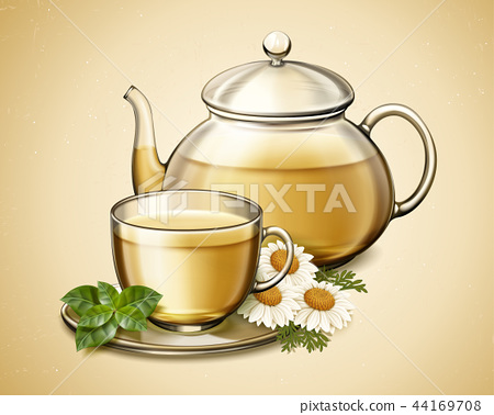 Chamomile flower tea 44169708
