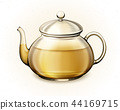 Tea in glass teacup 44169715