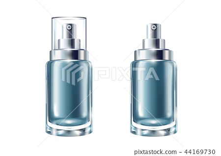 Blue cosmetic containers set 44169730