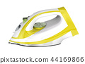 White and yellow electric iron 44169866