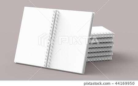 Blank notebooks pile 44169950