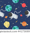 Astronaut  in space flat design pattern 44173699