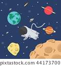 Astronaut  in space flat design 44173700