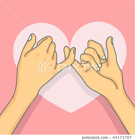 Hand drawn pinky promise vector 44173707