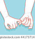 hand drawn to Pinky promise  vector 44173714