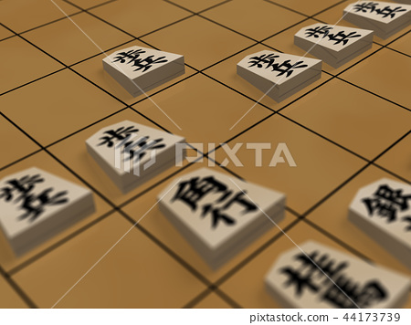 CG 3D illustration 3D design Shogi Shogi game start start start start is important 44173739