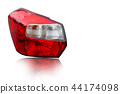 Car tail lights that are separate from the backgro 44174098