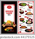 Japanese cuisine suhsi and noodle bento dish menu 44175525