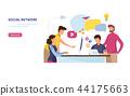 Social network. Online Community. 44175663