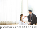 女兒和父親穿著一件衣服 44177339
