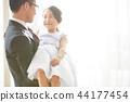 女兒和父親穿著一件衣服 44177454