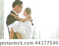 女兒和父親穿著一件衣服 44177500