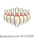 bowling pin isolated 44179260