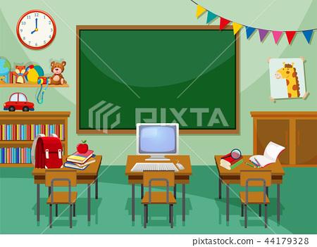 A empty computer classroom 44179328
