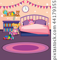 A girl bedroom template 44179355