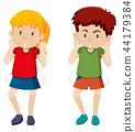 Girl and boy dancing 44179384
