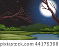 A nature landscape at night 44179398