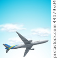 Commerical airplane flying above 44179504