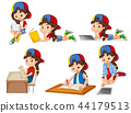 A set of girl and activity 44179513
