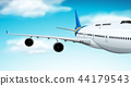 Commerical aircraft flying in sky 44179543