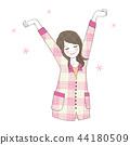 발돋움을하는 여성 편안한 좋은 각성 44180509