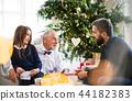 christmas, senior, people 44182383