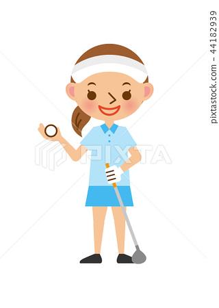 高爾夫女性 44182939