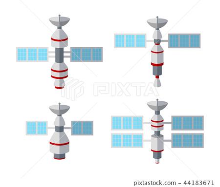 Set of satellite icon isolated on white background 44183671