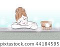 woman with hot spring 44184595