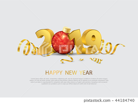 Happy New Year 2019. 44184740