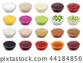 Set of different sauces isolated on white background 44184856