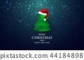 Merry Christmas and New Year Xmas background. 44184898