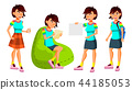 female, lady, teen 44185053