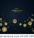 Merry Christmas and Happy New Year background. 44185188