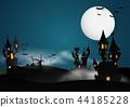 Castle Halloween Banner background. 44185228
