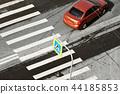 car and zebra pedestrian crossing 44185853