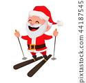 Merry Christmas. Funny Santa Claus. 44187545