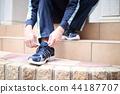 運動鞋(澤西運動鞋運動鞋訓練跑步男性不露面的人) 44187707