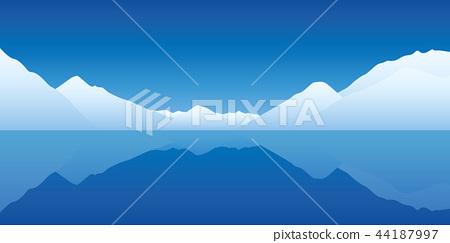 iceberg landscape cold blue ocean 44187997