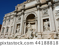 famous Trevi Fountain in Rome, Italy. 44188818