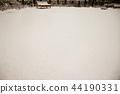 冬天風景,平靜的背景堆積與雪 44190331