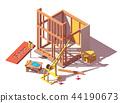 store, isometric, building 44190673