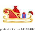 christmas sledges santa claus vector illustration 44191487