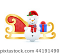christmas sledges santa claus vector illustration 44191490