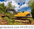 Excavator - Earth Mover in a Construction Site 44193122