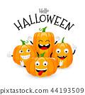 Group of cute cartoon pumpkin character design.  44193509