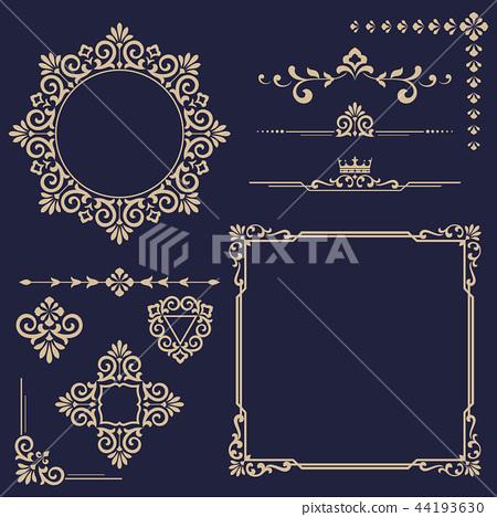 Vintage Set. Floral elements for design monograms 44193630