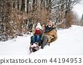 snow, senior, family 44194953