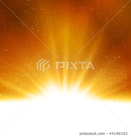 Vector shiny Abstract magic gold light background 44196582