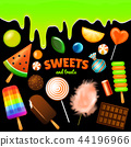 Set of Sweet candies Halloween. decorated elements. Traditional october holiday. Vector colorful 44196966